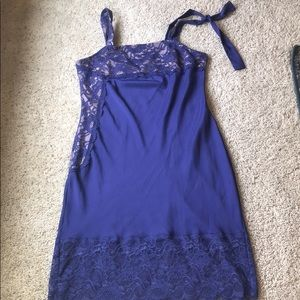 Victoria Secret slip dress lace, one shoulder tie
